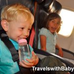 Little kids flying on Alaska Airlines 737 returning from Kauai at TravelswithBaby.com