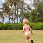 Huggies Hawaiian Little Movers diaper on the move in Kauai