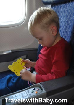 toddler flying to france