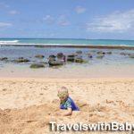 Toddler at Baby Beach