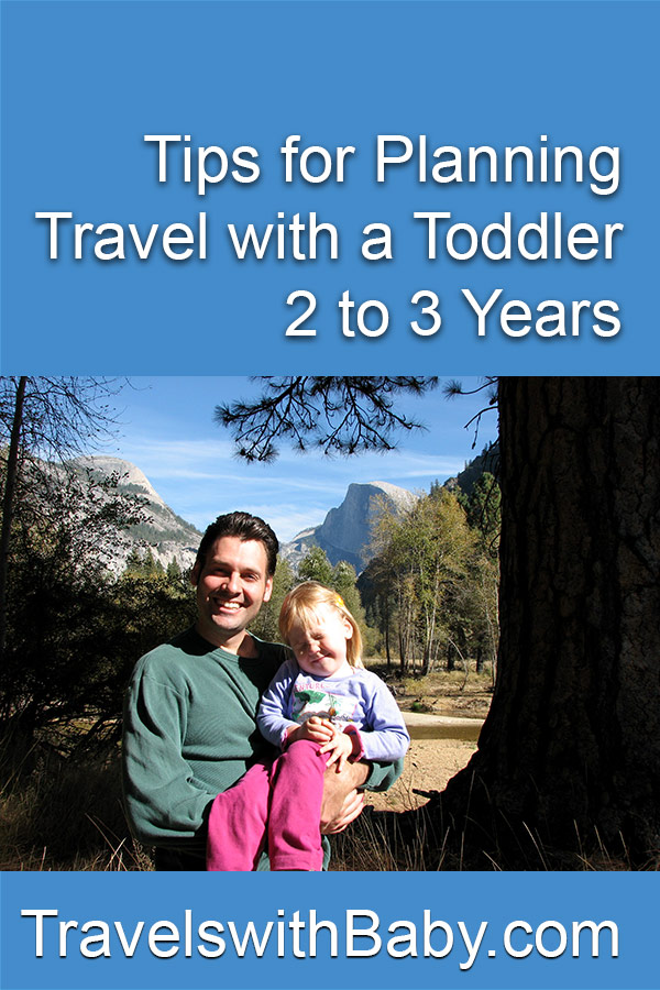 Travel with a toddler 2 to 3 years pinnable