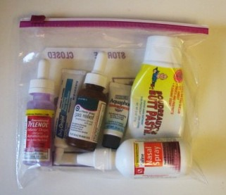 baby travel kit for airplane carryon