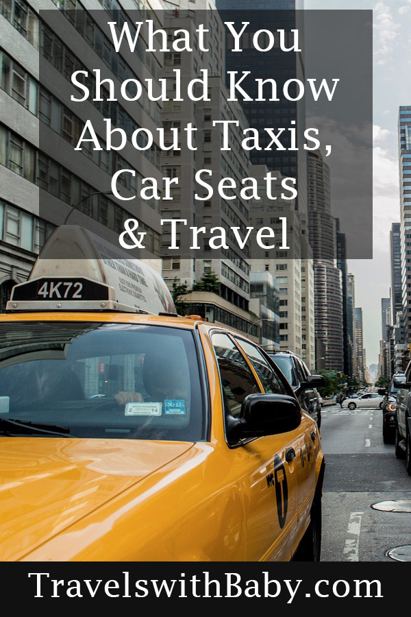 information on using car seats in taxis