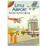 Little Airport Sticker Activity books keeps travling toddlers and preschoolers busy