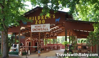 Children's pettting zoo at Wildlife Safari