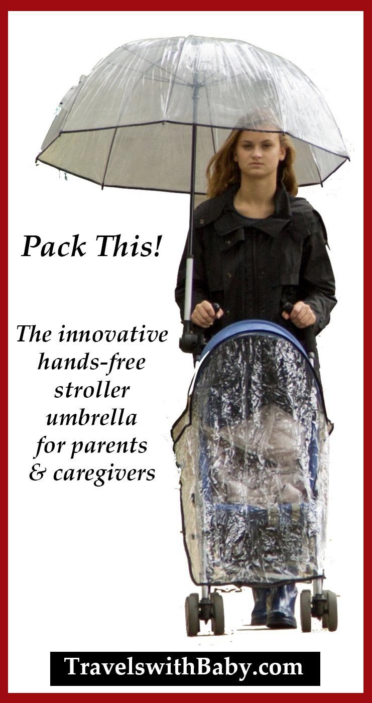 hands-free stroller umbrella