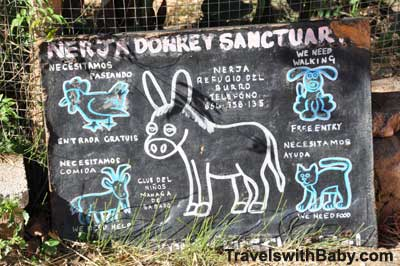 Sign at nerja donkey sanctuary