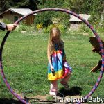 Tie-dye and hula hoops on the lawn at Breitenbush Retreat in Oregon