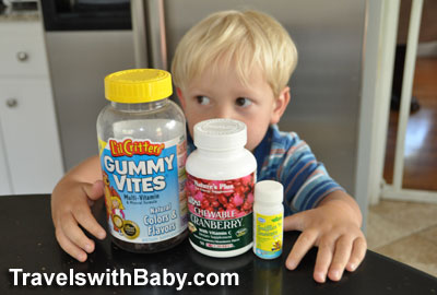 My toddler eyes the vitamin bottles he scaled the kitchen counter and shelves to retrieve travelswithbaby.com