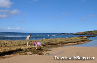 Discovering the rocky tidepools at Salt Pond Park, Kauai
