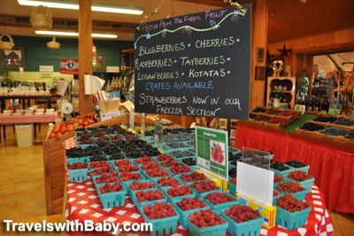 Fresh summer berries at Bauman Farms, Oregon