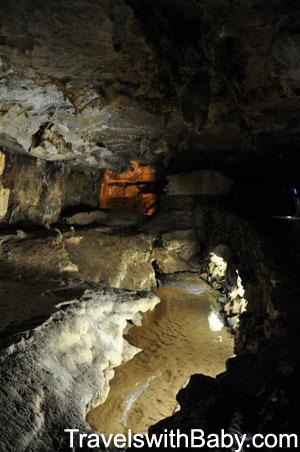 An underground stream in Crystal Cave