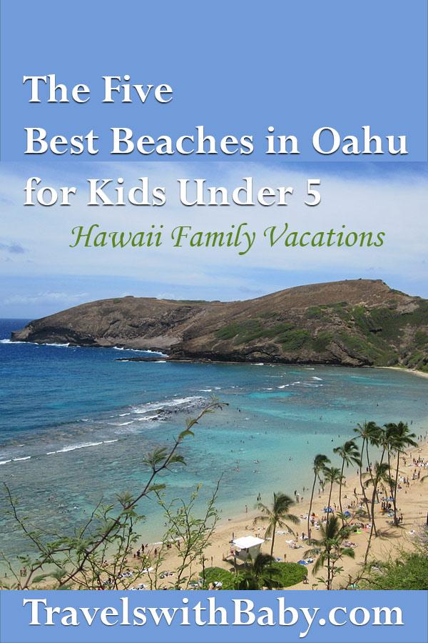 best Oahu beaches for kids pinnable