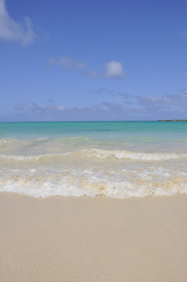 Kailua Beach has soft sand and gentle water