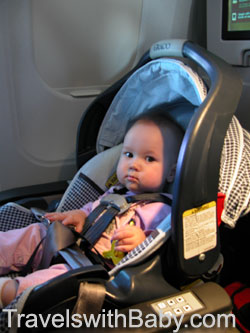Baby Flying Rear Facing In Car Seat On Airplane