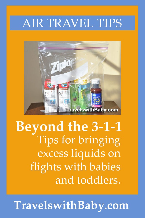 excess liquids on flight with baby