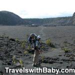 Hiking Kilauea Iki Crater on the Big Island with toddler
