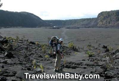Hiking Kilauea Iki Crater on the Big Island with toddler