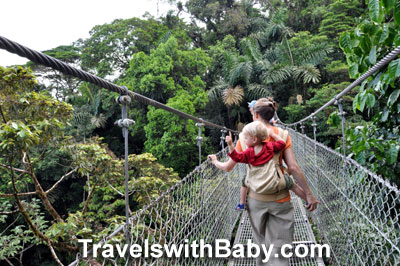 A hike through Hanging Bridges park in Costa Rica, near Arenal