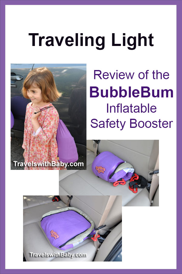 Review of the BubbleBum inflatable booster for travel
