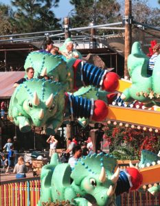 The TriceraTop Spin at Walt Disney World