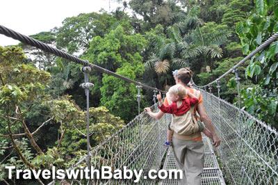 On hanging bridge at Arenal Hanging Bridges