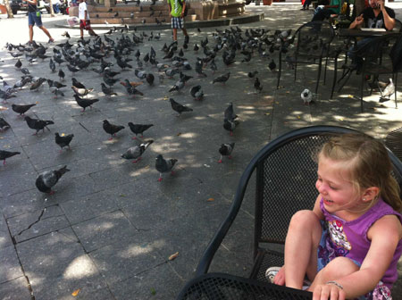 Feed the birds? You'll find plenty at Parque de las Palomas (pigeon park).