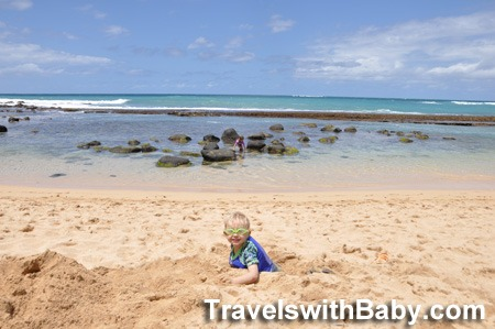 Toddler at Baby Beach