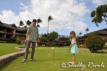 Mini golf at Napili Kai Maui
