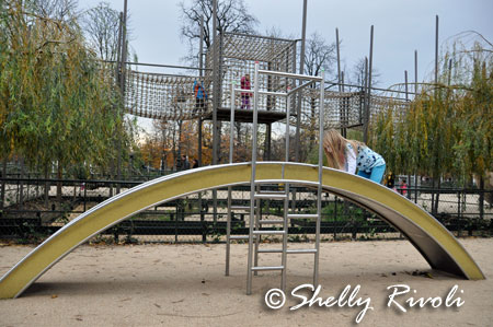 small slide and climbing structure