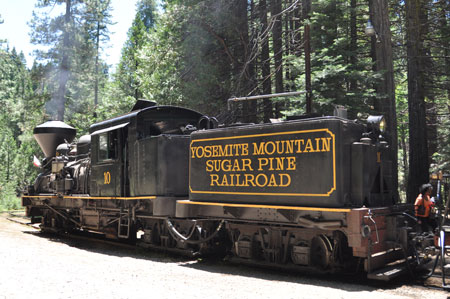 All aboard Yosemite Mountain Sugar Pine Railroad
