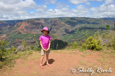 On the Iliau Nature Loop Trail, a short hike with kids at Waimeia Canyon.