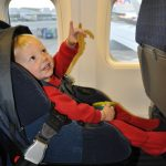 car seat on airplane