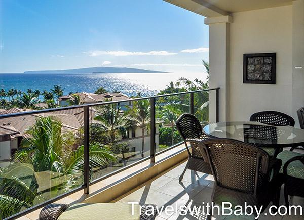 Maui wailea beach villas penthouse balcony