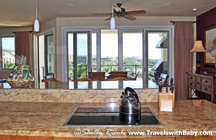 A cooktop with a view at Wailea Beach Villas, Maui.
