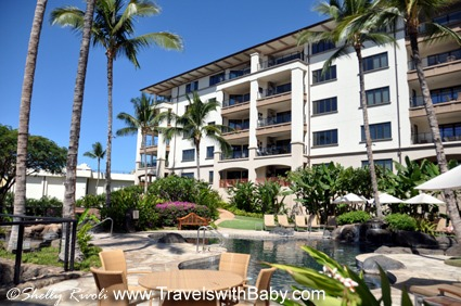 The family pool at ground level of the penthouse building at Wailea Beach Villas.