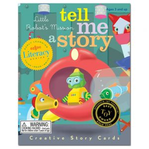 "The ""Little Robot's Mission"" set of Tell Me a Story Cards."