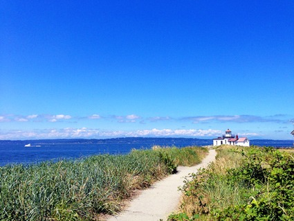 The Lighthouse at Discovery Park, Seattle. Photo credit: Keryn Means