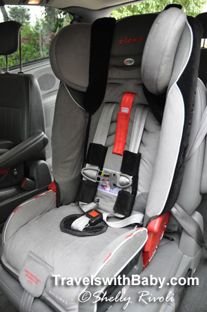 The slim profile of the Diono Radian RXT gives forward-facing kids more leg room on flights and in compact rental cars.