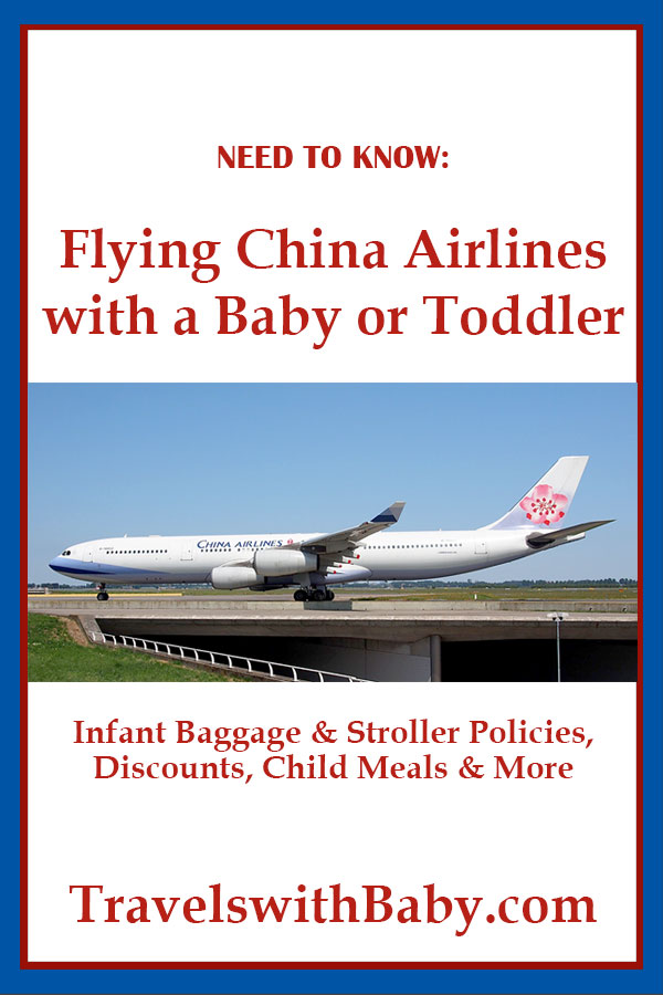 flying China Airlines with a baby or toddler