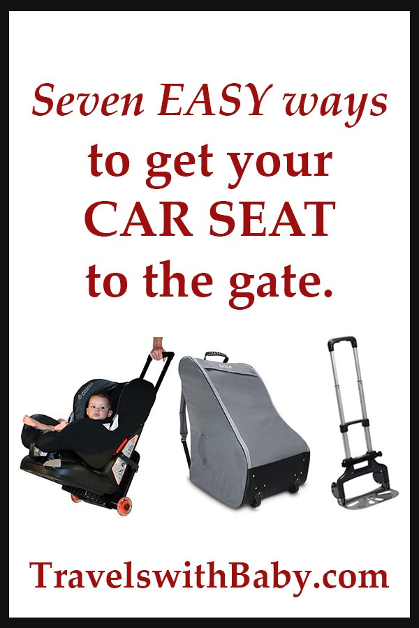 flying with car seats, seven easy ways