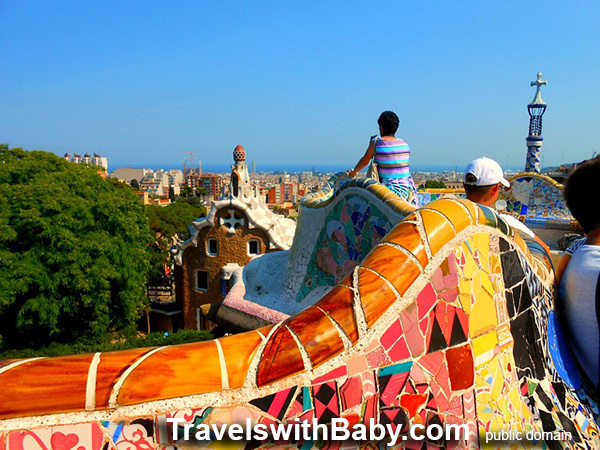 Parc Guell with kids