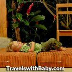zonked in Costa Rica toddler