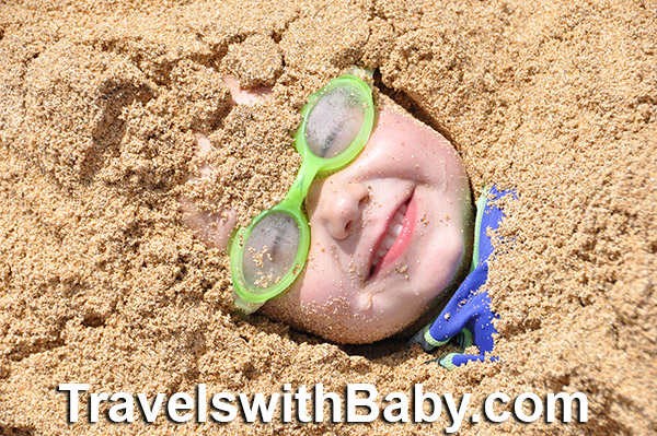 toddler beach sand