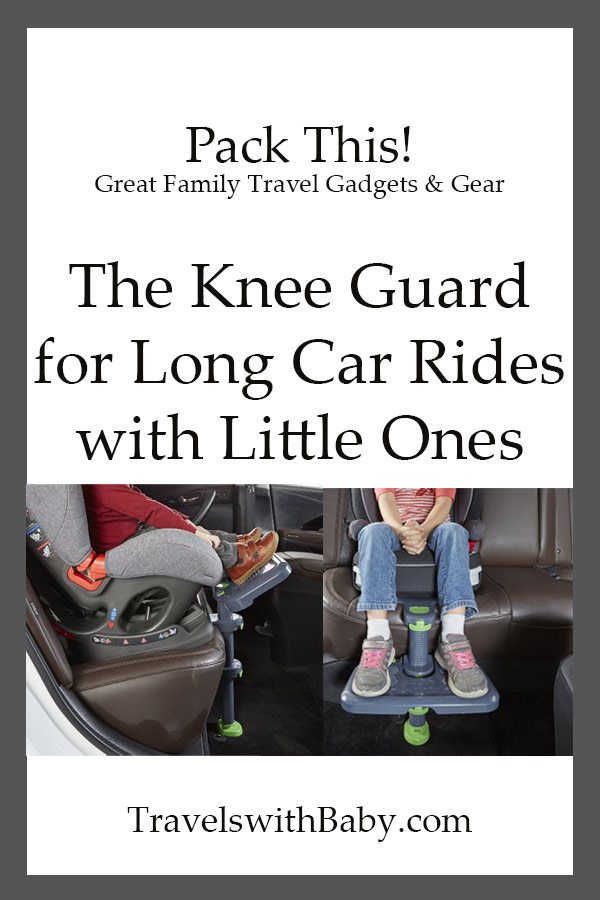 Kneeguard for comfortable car trips with car seats