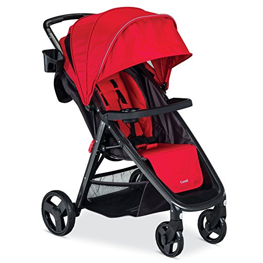 review of Combi fold n go stroller in red