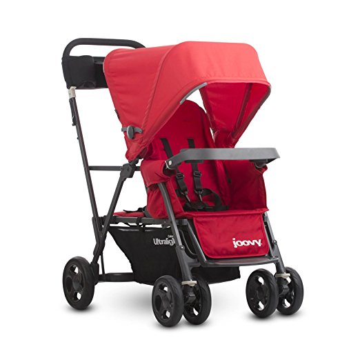joovy caboose ultralight stroller in red