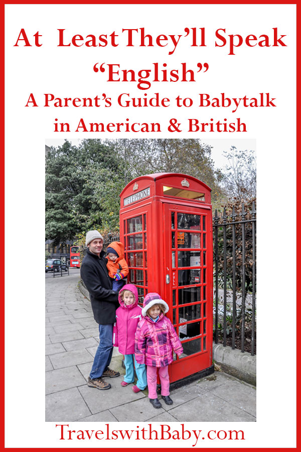 parent's guide to babytalk in American and British pinnable