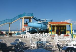 water slide in review of franklyn d resort