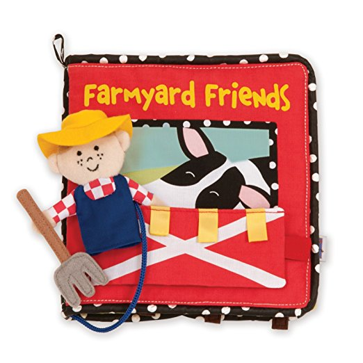 farmyard friends travel toy book
